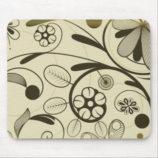 Floral Damask tan Mouse Pad