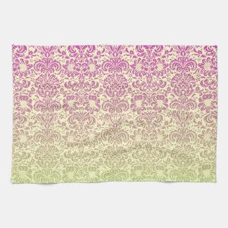 Floral Damask Tea Towel