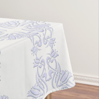 floral damask violet pattern tablecloth