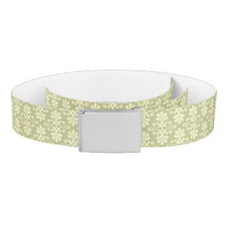 Floral damask wallpaper belt