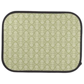 Floral damask wallpaper car mat