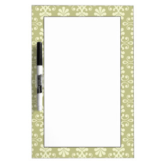 Floral damask wallpaper dry erase board