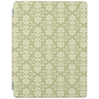 Floral damask wallpaper iPad cover