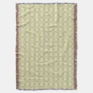 Floral damask wallpaper throw blanket