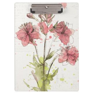 Floral Dark Pink Splash Clipboard