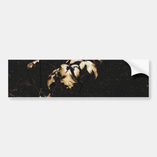 Floral Deco Grunge Bumper Sticker