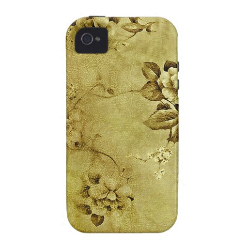 Floral Deco Grunge Vibe iPhone 4 Case