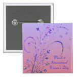 Floral Deco Women's Day Button