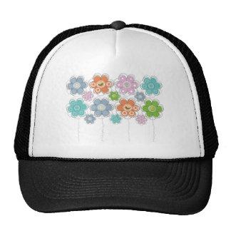 Floral Decor Mesh Hats
