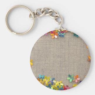 floral decor keychain