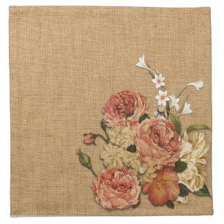 Floral decoration cloth napkins