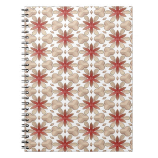 Floral Decoration. Floral Fabric Texture Pattern Spiral Note Book