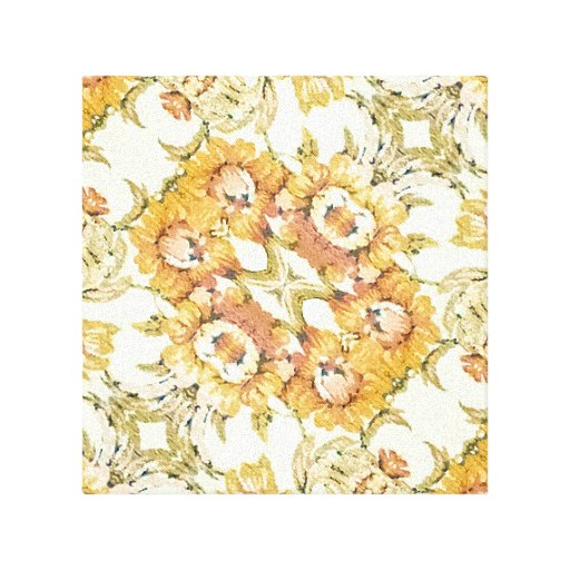 Floral Decorative Gallery Wrapped Canvas
