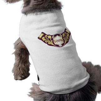 Floral decorative label pet clothing