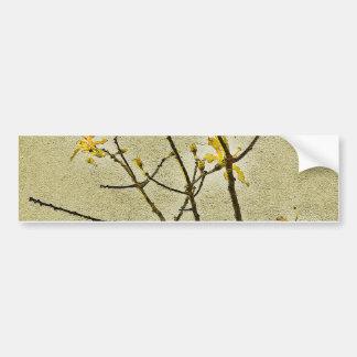 Floral Decorative Nature Bumper Sticker