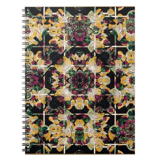 Floral Decorative Spiral Notebook