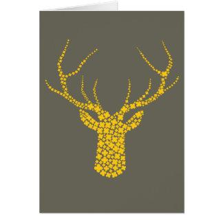 Floral Deer Antler Card