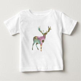 Floral Deer Baby Tshirt