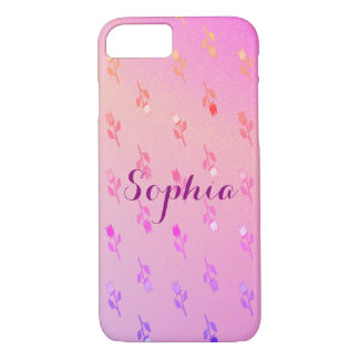 Floral Delicate Romantic Gentle Pink Girly Sophia iPhone 7 Case