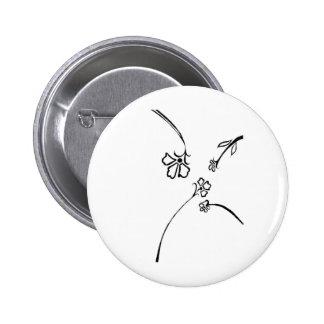 Floral delight 6 cm round badge