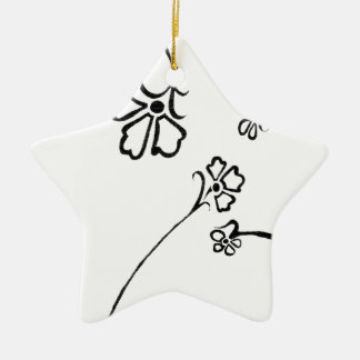 Floral delight christmas ornament