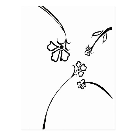 Floral delight postcard