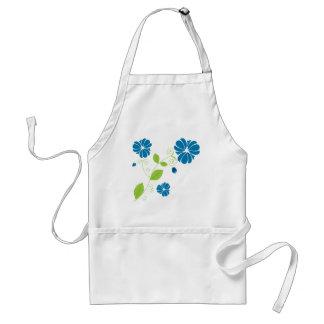 Floral Design - Blue Adult Apron