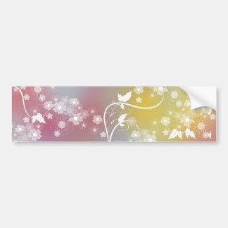 Floral Design Bumper Sticker