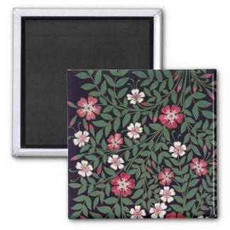 Floral Design by J. Owen, 1863 Square Magnet