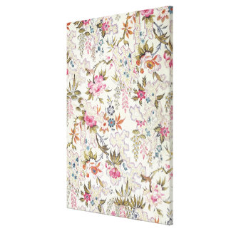 Floral design for silk material with stylized flow gallery wrap canvas