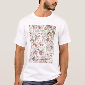 Floral design for silk material with stylized flow T-Shirt