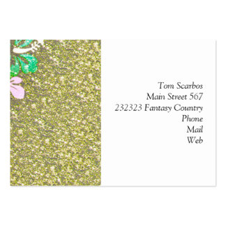 Floral Design GINA,green Business Card Template
