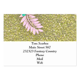 Floral Design GINA,green Business Card
