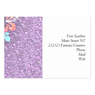Floral Design GINA,pink Pack Of Chubby Business Cards