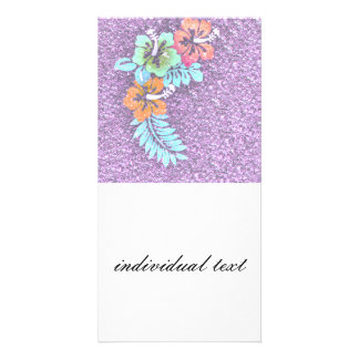 Floral Design GINA,pink Photo Greeting Card