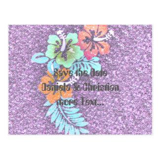 Floral Design GINA,pink Postcard