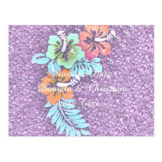 Floral Design GINA,pink Postcards