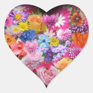 Floral Design Heart Sticker