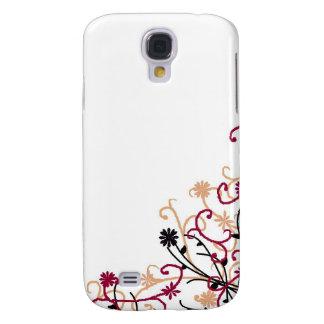 Floral design-maroon samsung galaxy s4 cover