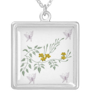 Floral design Nacklace Silver Plated Necklace