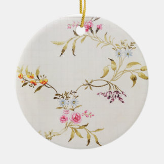 Floral design of carnations and roses for a silk m christmas ornament