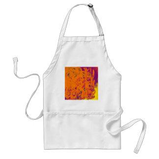 floral Design orange Standard Apron