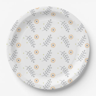 Floral Design Party Supply Plate