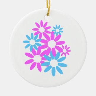 Floral Design Round Ceramic Decoration