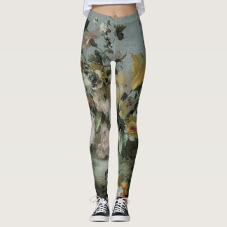 floral design,soft coloured flowers, classy leggings