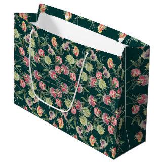 Floral Design Sweet Pea Large Gift Bag