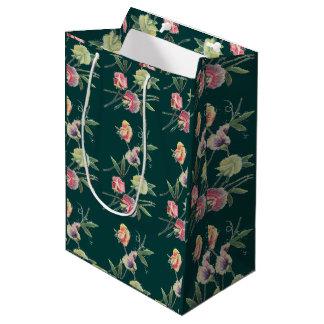 Floral Design Sweet Pea Medium Gift Bag