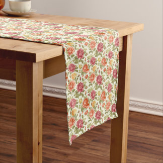 floral design table runner roses