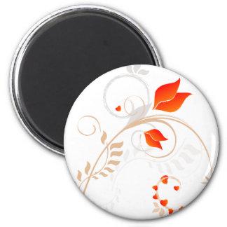 Floral Design - Valentines 6 Cm Round Magnet