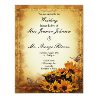 Floral Design Wedding Invitation
